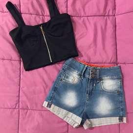 Indumentaria Femenina! Remeras shorts tops