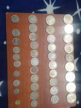 Vendo o permuto monedas antiguas propongan de diferentes países