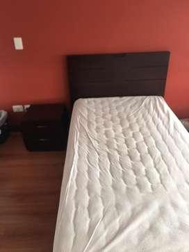 Cama sensilla con colchón 600.000
