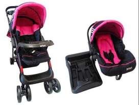 Coche para bebe priori con silla carro 4en1 $250