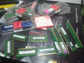Memorias Ram 1 gb 2gb 4 gb 8 gb
