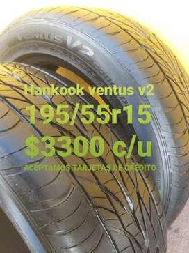 Neumaticos hankook ventus v2  195/55r15