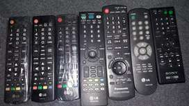 Controles para tv,aparatos,dvd usadas