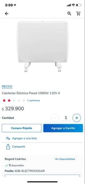Calefactor calentador de ambientes RECCO