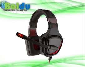 Audífono Diadema Gamer, con led. GT97