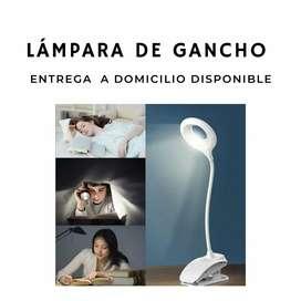 Lámpara para escritorio con clip