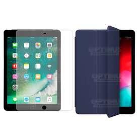 Combo Cristal Vidrio Templado Matte Glass Antireflejo Protector Y Estuche Case Forro con Tapa Smart Case iPad 9.7 / Air