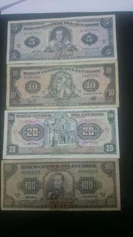 Billetes Varias Denominaciones