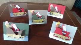 Tarjetas navideñas, hechas a mano/regalo de navidad
