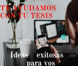 Tu ayuda sobre Tesis Asesoría Master Tesis Redactamos Corrección Metodología de investigación Elaboración Argentina