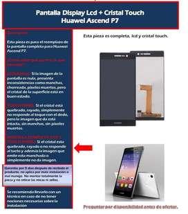 Pantalla Display Tactil Huawei p8 lite p7 p9 Lite Y7 Prime VIDRIO TEMPLADO