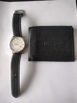 Reloj Tommy Hilfiger y billetera nueva marca Mario Hernández