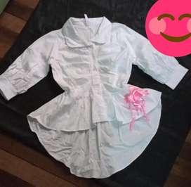 Blusa cola de pato para niña