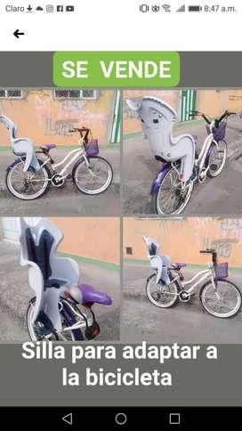 Silla para adaptar a la bicicleta