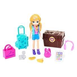 Muñeca Polly Pocket con Pack de Modas de Turista Fashión, Original de Mattel, NUEVA en SÚPER OFERTA a $20.000