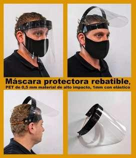 Mascaras protectoras rebatibles para adultos y niños