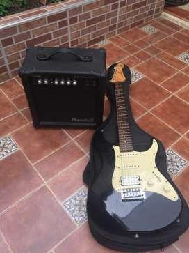 Se vende guitarra eléctrica Yamaha con amplificador  y línea todo original