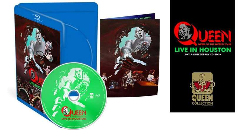 Queen Live in Houston 40th Anniversary Edition Bluray 0
