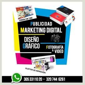 Servicios de impresión  publicitaria & Fotografía