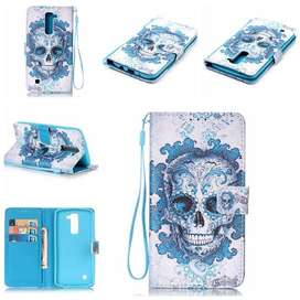 Flip Cover Case Estuche Billetera LG K7