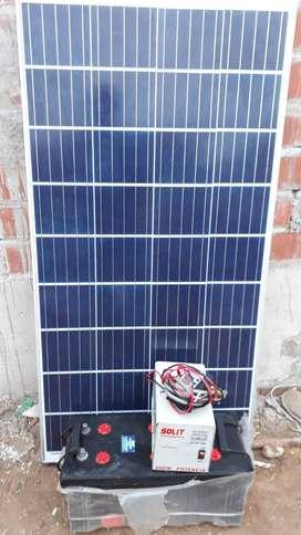 Se vende panel solar con sistema completo