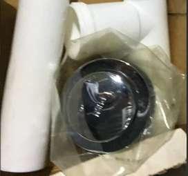 """Desagüe de tina de baño en Cromo plateado 1 – 1/2"""" viaje tipo de palanca color blanco marca Jameco de fácil instalación"""