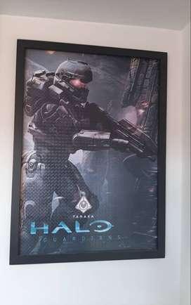 Cuadro Halo 5 Guardians Tanaka equipo Osiris 71x51
