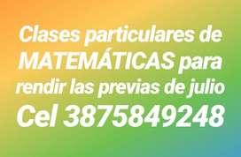 Sacate Matemáticas Previas