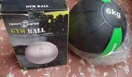 Balón de pilates y Balón de 6kg segunda mano  Pedregal