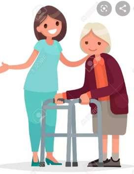 Cuidadora al adulto mayor