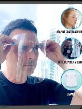 Protector facial cómodo tipo gafa