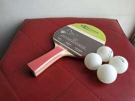 Raqueta de tennis de mesa + 4 Bolas Weston 3 Estrellas
