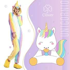 Pijama Unicornio tricolor kigurumi