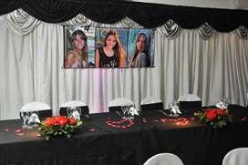 Comunión Presentaciones Charlas Cumpleaños 15 y 18 años Salón Fiestas Casamientos Flores Cap Fed