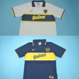Camisetas retro Boca Juniors (81, 95, 97, 00, 01, 07)