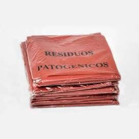 BOLSAS PARA RESIDUOS PATOGENICOS PACK X 100 UNIDADES