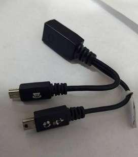 Motorola USB mini y adaptador skn 6222a
