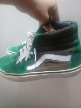 Vans Off The Wall verdes,café Y Blanco