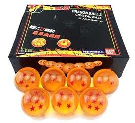 Dragón Ball Z Esferas Del Dragón Cristal X7 Collecion Bandai
