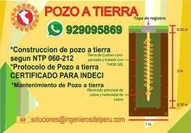 POZO A TIERRA, PROTOCOLO DE POZO A TIERRA, ELECTRICISTA, TECNICO ELECTRICISTA