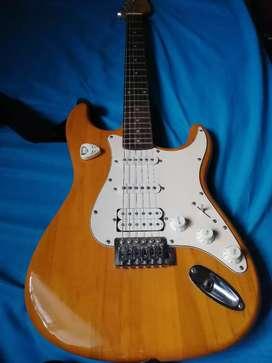 Guitarra Eléctrica VORSON, amplificador BOSTON y su forro de material duro