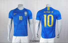 Camiseta Seleccion Brasil Visitante 2018 Neymar Jr Mundial 19-20
