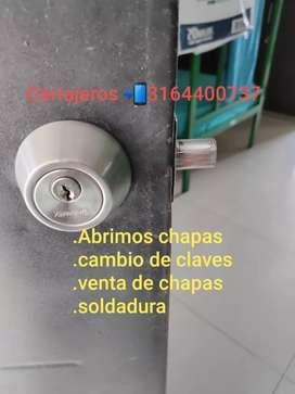 CERRAJERO . ABRIMOS CHAPAS, CAMBIO DE CLAVES, VENTA DE CHAPAS MAS INSTALACIÓN,