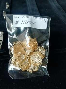 Prendedor plata dorada ley 9258
