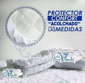 EN COLCHONES DAVINCHI MANEJAMOS PROTECTORES IMPERMEABLES O SENCIILLOS PARA EL CUIDADO DE TU COLCHON SOLO DE CONTADO