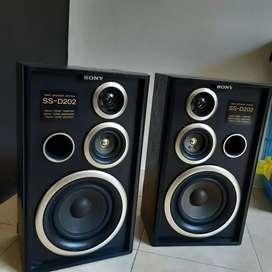 Parlantes vintage Sony SS- D202 - 3 vias alta fidelidad HiFi