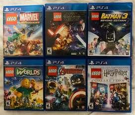 Vendo juegos ps4 play 4 legos
