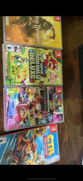 Vendo Nintendo Switch con sus juegos y case 10/10 sin detalles