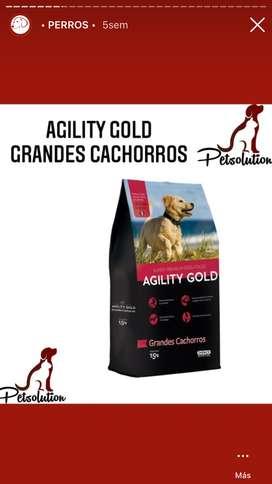 Agility gold grandes cachorros 1,5 y 3kg