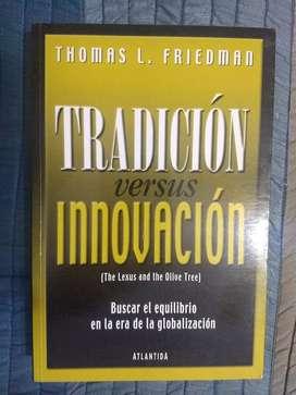 """Libro """"Tradición vs Innovación"""" de Thomas Friedman"""